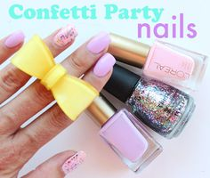 Just Another Manic-cure Monday: Confetti Party Nails