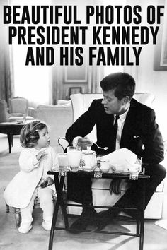 These well-documented images of late U.S. President Kennedy shows how the president and his family lived.