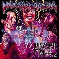 "Deep Red - The Genius Inside - Artwork of Chas Balun - CD Cover Art for Necrophagia's ""Holocausto de la Morte""."