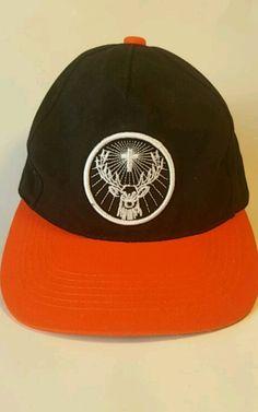 056d6fe805d5 Jagermeister Baseball Cap Black Orange Hat Embroidered Logo Party Shots