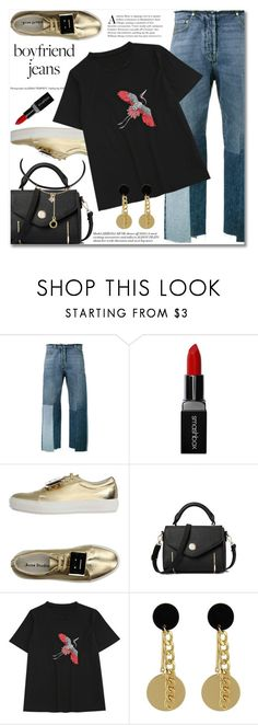 """Boyfriend Jeans"" by fshionme ❤ liked on Polyvore featuring Valentino, Smashbox, Acne Studios and boyfriendjeans"