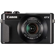 Stay inspired with the Canon PowerShot X Mark II Wi-Fi Digital Camera. It features a high-performance Megapixel CMOS sensor as well Canon Eos, Canon Dslr, Camera Olympus, Wi Fi, Canon Kamera, Canon G7x Mark Ii, Power Adapter, Bluetooth, Canon Zoom Lens