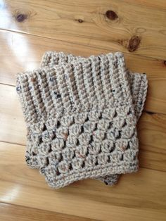 Custom Crochet Boot Cuffs - Color: Oatmeal on Etsy, $12.00