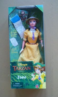 mattel DISNEY TARZAN JANE DOLL -- CHECKED** FOUND OUT OF BOX, NO CLOTHES AT THRIFT STORE FOR $1.60