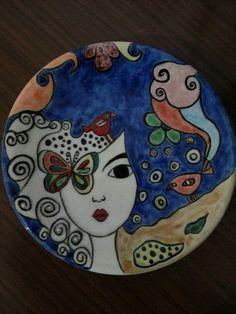 Hand painting custom design Turkish Çini art 13 cm 40 $