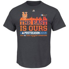 New York Mets Majestic 2015 NL East Division Champions Locker Room East Is Ours T-Shirt - Charcoal - Fanatics.com
