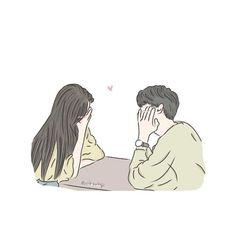 Cute Cartoon Images, Cute Love Cartoons, Cartoon Art Styles, Cute Cartoon Wallpapers, Cute Couple Drawings, Cute Couple Art, Girly Drawings, Love Cartoon Couple, Girl Cartoon