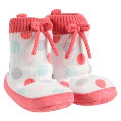 Dot Slipper Socks   Baby Girl Shoes & Slippers