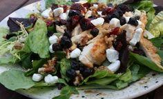 Raspberry Chipotle Chicken & Cranberry Spinach Salad