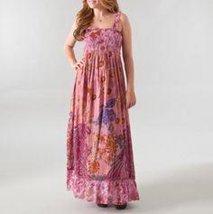 Empire Smocked Printed Maxi Dress