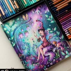 - Source by tuesdaybessie - Adult Coloring, Coloring Books, Coloring Pages, Create This Book, Secret Garden Coloring Book, Markova, Prismacolor, Colored Pencils, Color Inspiration
