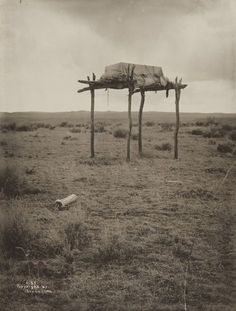 Native American Burial Site by Richard Throssel