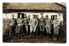 Commandant Józef Piłsudski from the right) with the officers of the First Brigade of Polish Legions during (ca. Commandant with officers Edwardian Era Fashion, Kaiser, Military History, Coat Of Arms, Social Community, Troops, World War, Poland, Army