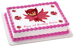 PJ MASKS 4 Owlette Edible Cake Topper & Cupcake Toppers – Edible Prints On Cake (EPoC)