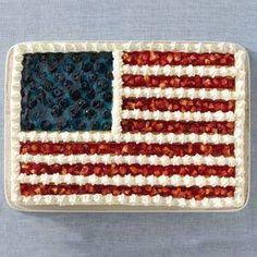 Flag Cake for Patriotic Holidays
