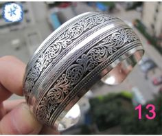 Nouveau tibet tibet argent totem Bangle Cuff Bracelet WB Hot