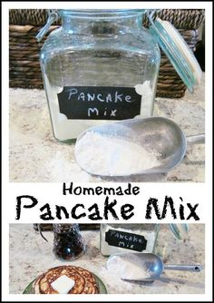 Homemade Pancake Mix Breakfast Dishes, Breakfast Recipes, Breakfast Ideas, Cooking Recipes, Cooking Stuff, Drink Recipes, Cooking Tips, Easy Recipes, Easy Meals
