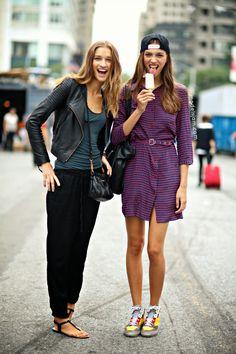Anastasija Titko and Neus Bermejo, New York, September 2013 - Models Jam