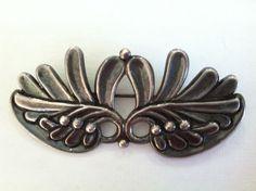 Margot de Taxco sterling leaf brooch