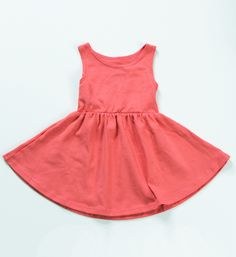 Little Hip Squeaks The Sleeveless Swing Dress // Coral