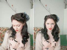 Ish & chi blog --- such pretty vintage hair style