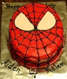 The Twins Spider-Man cake