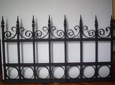 Gate Wall Design, Fence Design, 2 Panel Interior Door, Compound Wall, Small Balcony Decor, Wrought Iron Decor, Boundary Walls, Bungalow House Design, Kitchen Cabinet Styles