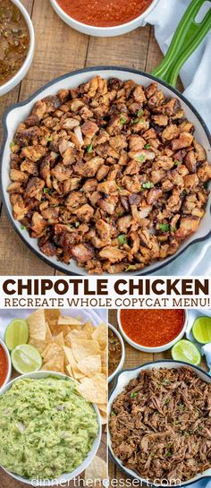 Chicken (Copycat) recipe captures the exact Chipotle flavors for you at home with the chili, garlic, cumin and vinegar notes without leaving home! Chipotle Chicken Copycat, Chipotle Chicken Bowl, Chipotle Copycat Recipes, Chipotle Burrito Bowls, Chipotle Steak Bowl Recipe, Qdoba Chicken Recipe, Cumin Chicken, Healthy Recipes, Food Dinners