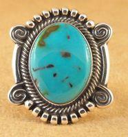 Terry Martinez Sterling Silver Ingot Handmade Navajo Ring Royston  Turquoise