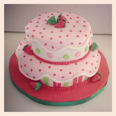 Torta Fresita #strawberry shortcake #rosita Fresita