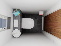 Image result for toiletruimte Small Downstairs Toilet, Small Toilet Room, Small Bathroom, Office Interior Design, Bathroom Interior Design, Understairs Toilet, Space Saving Toilet, Laundry Room Inspiration, Tiny House Cabin