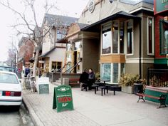 Kensington Village in Calgary - used to come here for coffee & dessert and great music!
