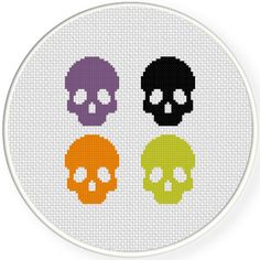 FREE Spooky Skulls Cross Stitch Pattern
