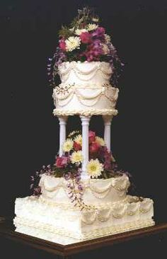 Elegant Wedding Cakes with Fountains | ... by licensed, professional Pastry Chef. No commercial cake mixes used