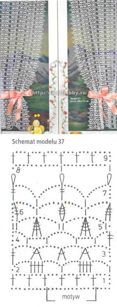 New crochet lace curtains doilies Ideas Filet Crochet, Crochet Diagram, Crochet Chart, Crochet Motif, Crochet Doilies, Crochet Curtain Pattern, Crochet Curtains, Curtain Patterns, Lace Curtains