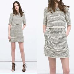 Zara printed layer dress. Size M Zara printed layer dress. Size M Zara Dresses