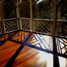 Covered patio with brazilian walnut hardwood flooring Walnut Hardwood Flooring, Installing Hardwood Floors, Refinishing Hardwood Floors, Floor Refinishing, Outdoor Living, Outdoor Decor, Atlanta, Deck, Patio