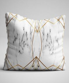 Another great find on #zulily! Gold & Gray Marble Throw Pillow Cover #zulilyfinds