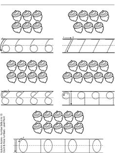 Coloring Page Color Worksheets For Preschool, Preschool Writing, Numbers Preschool, Fall Preschool, Kindergarten Math Worksheets, Preschool Learning Activities, Preschool Curriculum, Kids Learning, Transitional Kindergarten