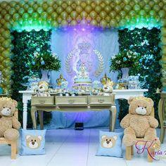 King Bear party idea // Urso Príncipe festa de aniversário By @iolandafestas