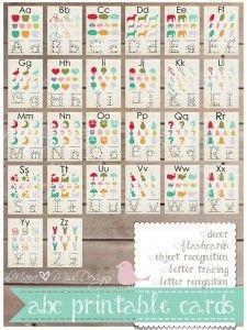 Free ABC Card Printables #247moms