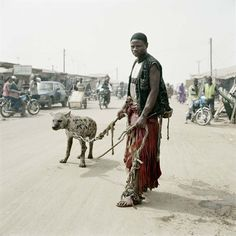 "Pieter Hugo - photo from the streets of Lagos ""the hyena men"""