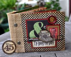 Susan makes this glorious Typography mini album for our Scor-Pal blog hop this week! Amazing! #graphic45