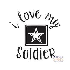 I Love My Soldier Decal. Army America Hero by StarsStripesDesigns