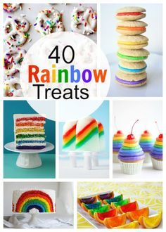 Boy do I have a fun roundup for you today! 40 Rainbow Treats! They are perfect for birthday parties or just any time you need some bright colors in your life! ** We all love pins and they are encouraged! I would LOVE for you to pin the first collage pin.... Read More » Rainbow Treats, Rainbow Food, Rainbow Theme, Rainbow Baby, Rainbow Desserts, Rainbow First Birthday, First Birthday Parties, First Birthdays, Birthday Ideas