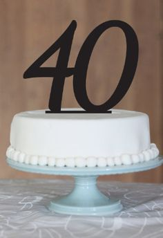 Number cake topper, 40 birthday cake, name cake topper, Custom cake topper, monogram cake toppers on Etsy, $18.63