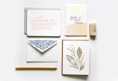 Moglea Letterpress - super inspirational layout. type + illustrations within stationary.