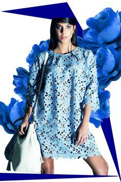 BLUE LACE ! www.nocturne.com.tr #nocturne #lace #blue #blue #white #leather #bag #fashion #style #stile