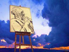 'Emil+Nolde+und+sein+Himmel'+von+Dirk+h.+Wendt+bei+artflakes.com+als+Poster+oder+Kunstdruck+$18.03