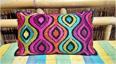 Check out this item in my Etsy shop https://www.etsy.com/uk/listing/241530991/colorful-funky-bohemian-cushion-cover